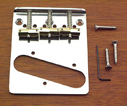 Callaham Tele Bridge Assembly for American Standard or American Series Guitars w/ 3 Brass Enhanced Vintage Compensated Saddles Highluster finish