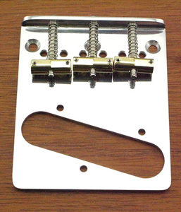 Callaham Tele Bridge Assembly for American Standard or American Series Guitars w/ 3 Brass Enhanced Compensated Saddles.